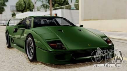 Ferrari F40 1987 with Up without Bonnet IVF para GTA San Andreas