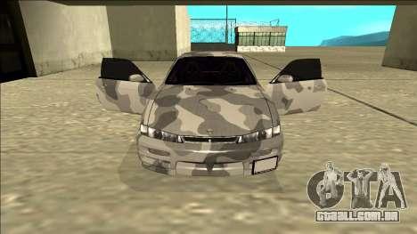 Nissan Silvia S14 Army Drift para GTA San Andreas vista interior