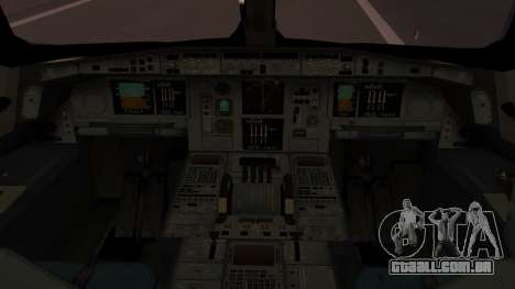 Airbus 350-900XWB Qatar Launch Customer para GTA San Andreas vista traseira