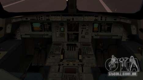 Airbus 350-900XWB Qatar Launch Customer para GTA San Andreas vista traseira