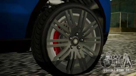 GTA 5 Obey Rocoto IVF para GTA San Andreas traseira esquerda vista