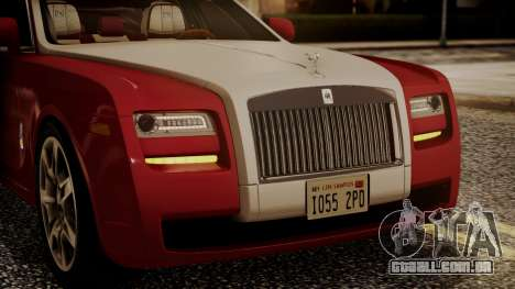 Rolls-Royce Ghost v1 para vista lateral GTA San Andreas