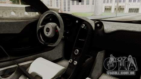 McLaren P1 GTR v1.0 para GTA San Andreas vista direita
