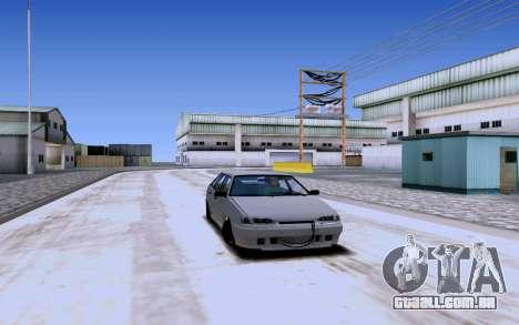 2114 Turbo para GTA San Andreas vista traseira