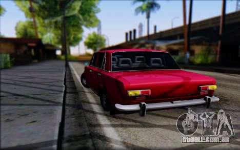 VAZ 2101 V1 para GTA San Andreas traseira esquerda vista
