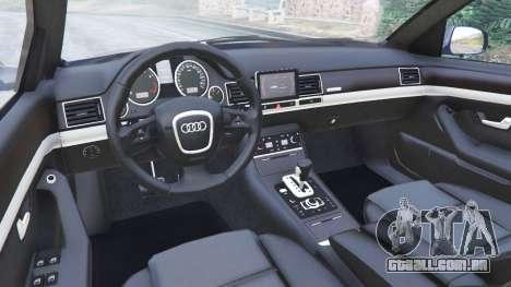 GTA 5 Audi A8 vista lateral direita