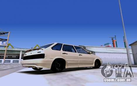 2114 Turbo para GTA San Andreas traseira esquerda vista