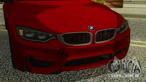 BMW M4 Coupe 2015 para GTA San Andreas vista interior