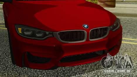 BMW M4 Coupe 2015 para GTA San Andreas vista interior