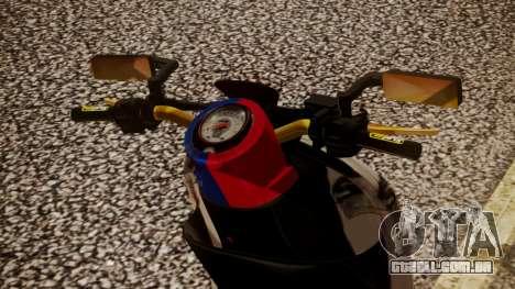 Honda Scoopy New Red and Blue para GTA San Andreas traseira esquerda vista