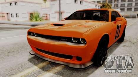 Dodge Challenger SRT Hellcat 2015 HQLM para as rodas de GTA San Andreas