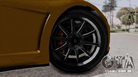 Dinka Jester Sparkle para GTA San Andreas traseira esquerda vista