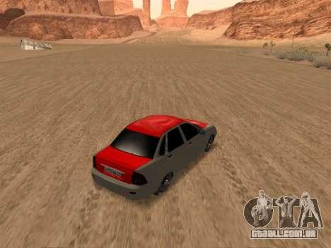 VAZ 2170 para GTA San Andreas vista traseira