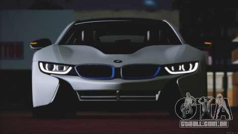 BMW i8 Coupe 2015 para GTA San Andreas vista traseira