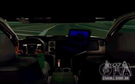 Ford F150 2015 Towtruck para GTA San Andreas vista traseira