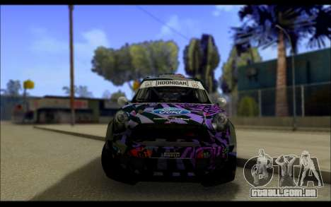Mini Cooper Gymkhana 6 with Drift Handling para GTA San Andreas vista interior