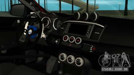 Mitsubishi Lancer Evolution X WBK para GTA San Andreas vista direita