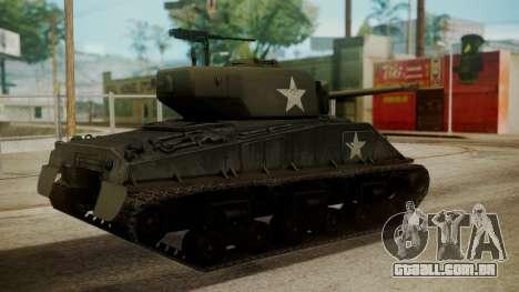 M4A3(76)W HVSS Sherman para GTA San Andreas esquerda vista