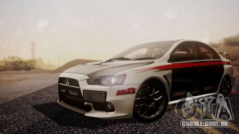 Mitsubishi Lancer Evolution X 2015 Final Edition para GTA San Andreas vista traseira