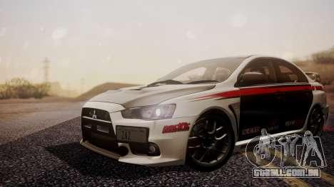 Mitsubishi Lancer Evolution X 2015 Final Edition para GTA San Andreas vista traseira