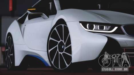 BMW i8 Coupe 2015 para GTA San Andreas vista superior