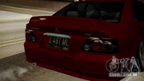 Mitsubishi Galant VR6 Stance para GTA San Andreas vista traseira