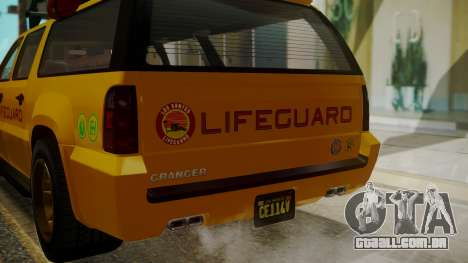 GTA 5 Declasse Granger Lifeguard IVF para vista lateral GTA San Andreas