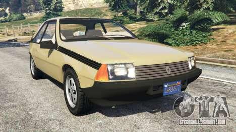 Renault Fuego 1980 para GTA 5