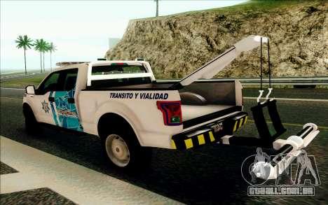 Ford F150 2015 Towtruck para GTA San Andreas vista direita