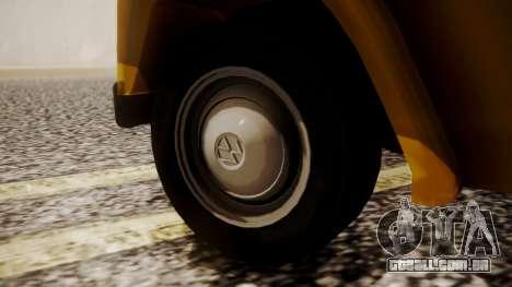 Volkswagen Safari Type 181 para GTA San Andreas traseira esquerda vista