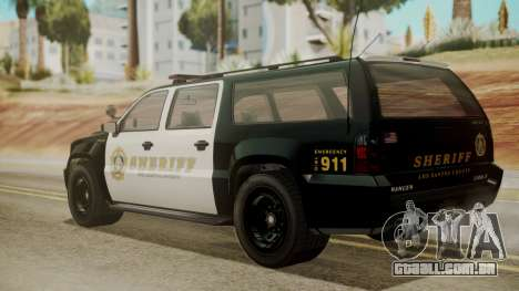 GTA 5 Declasse Granger Sheriff SUV IVF para GTA San Andreas esquerda vista