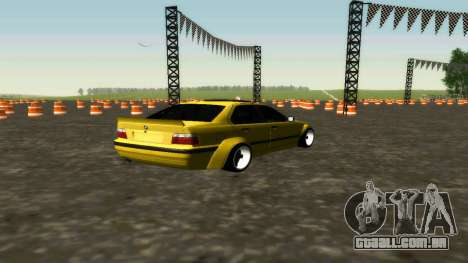 BMW 320i E36 Wide Body Kit para GTA San Andreas traseira esquerda vista
