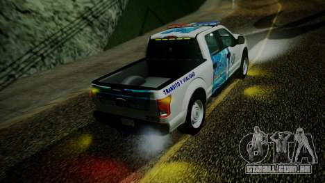 Ford F-150 2015 Transito Vial para GTA San Andreas vista traseira