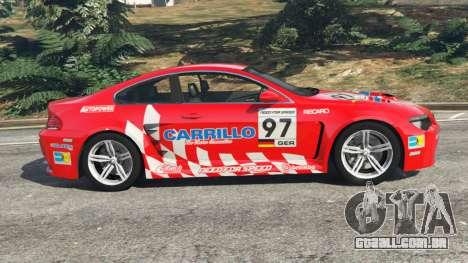 GTA 5 BMW M6 (E63) WideBody v0.1 [Carrillo] vista lateral esquerda
