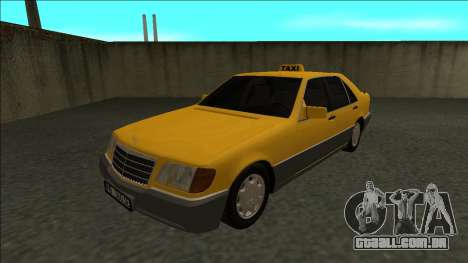 Mercedes-Benz W140 500SE Taxi 1992 para GTA San Andreas traseira esquerda vista