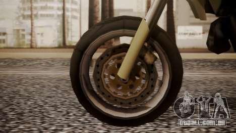 Sanchez SuperMoto para GTA San Andreas traseira esquerda vista