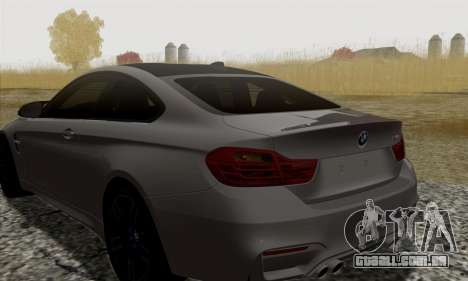 BMW M4 F82 para GTA San Andreas vista traseira