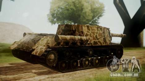 ISU-152 Panther Desert from World of Tanks para GTA San Andreas esquerda vista
