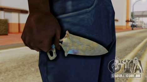Sombra Punhal endurecimento da Superfície para GTA San Andreas terceira tela