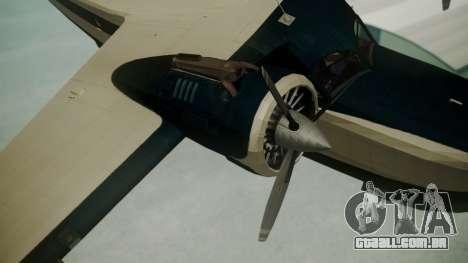 Grumman G-21 Goose Black and White para GTA San Andreas vista direita