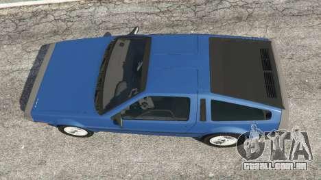 GTA 5 DeLorean DMC-12 v1.1 voltar vista