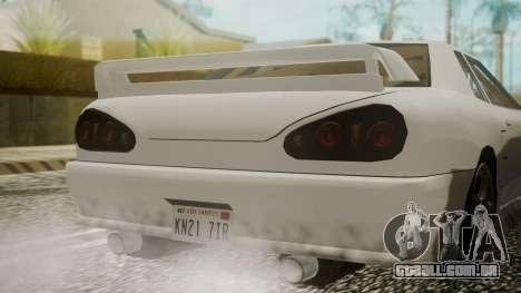 Elegy NR32 without Neon para GTA San Andreas vista traseira