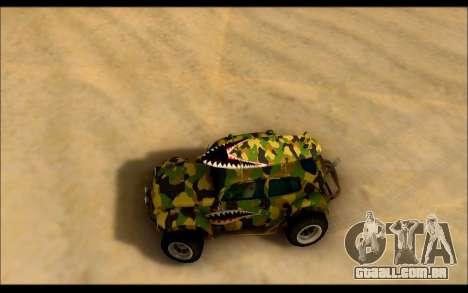 Volkswagen Baja Buggy Camo Shark Mouth para GTA San Andreas vista direita