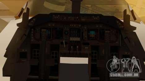 Boeing 747-200 Fly US para GTA San Andreas vista interior