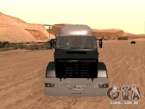 ZIL-133 05A para GTA San Andreas vista interior