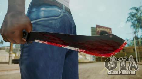 GTA 5 Machete (From Lowider DLC) Bloody para GTA San Andreas