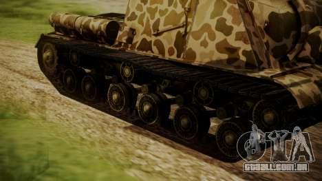 ISU-152 Panther Desert from World of Tanks para GTA San Andreas traseira esquerda vista