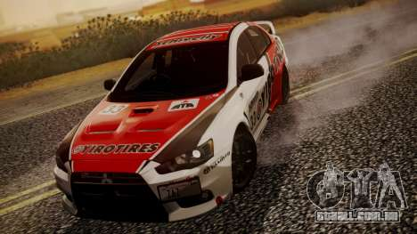Mitsubishi Lancer Evolution X 2015 Final Edition para vista lateral GTA San Andreas