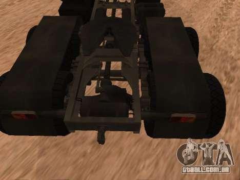 ZIL-133 05A para GTA San Andreas vista traseira