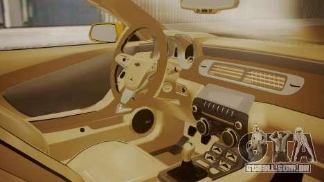 Chevrolet Camaro SS 2015 para GTA San Andreas vista direita